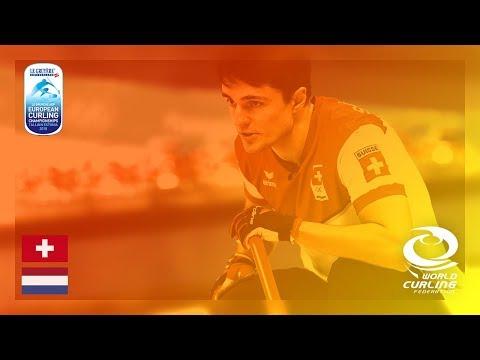 Switzerland v Netherlands - Men - Round Robin - Le Gruyère AOP European Curling Championships 2018