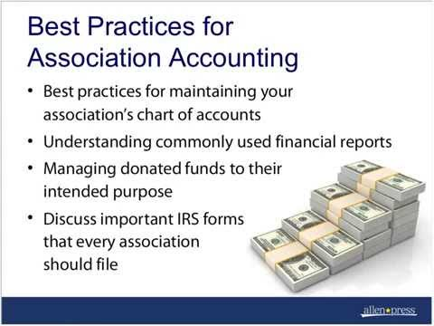 Best Practices for Association Accounting, Allen Press Webinar