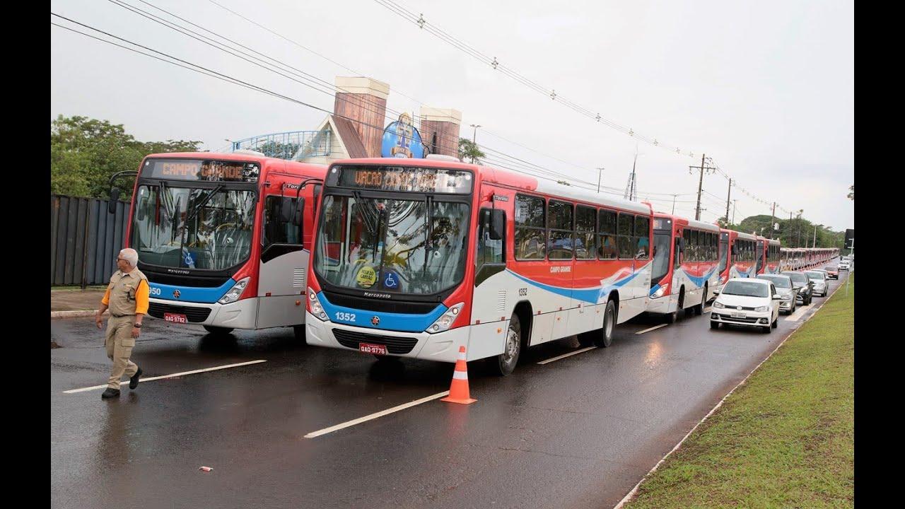 Prefeitura entrega 55 ônibus em Campo Grande