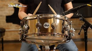 DW 5.5x14 Collector's Series Nickel over Brass Snare Drum—Quick 'n' Dirty