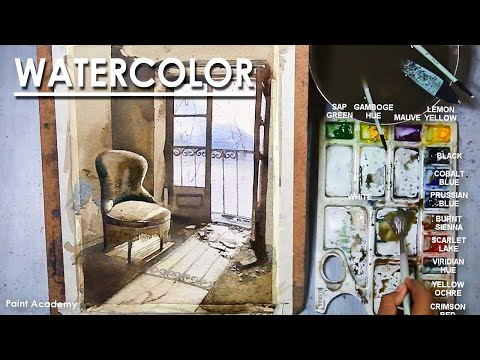 Watercolor Painting : A Composition on Abandoned Room