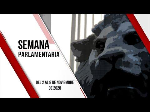 Semana Parlamentaria (del 2 al 8 de noviembre de 2020)