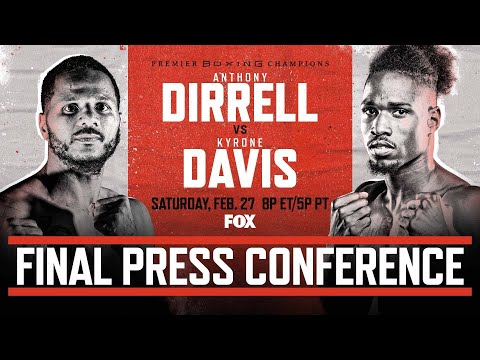Dirrell vs Davis Final Press Conference | PBC on FOX