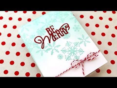 Holiday Card Series 2017 – Day 23 – Glitter Inlay Diecut