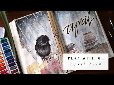 PLAN WITH ME | APRIL 2018 BULLET JOURNAL IDEAS | ANN LE