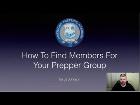 How To Find Members For a Prepper Group