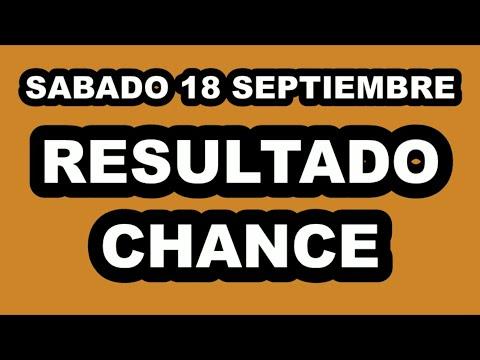 Resultados del Chance del Sábado 18 de Septiembre de 2021