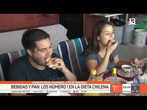 Dieta chilena: bebidas y pan ocupan el número uno