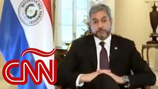 Lo que dijo Mario Abdo Benítez a CNN sobre denuncia de corrupción en compras por covid-19 a China