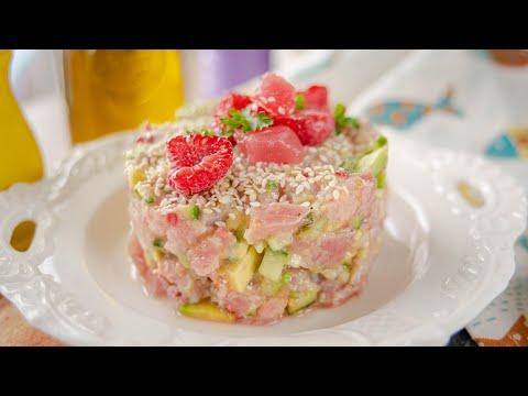 Моя любимая рыбная закуска ТАРТАР ИЗ ТУНЦА | летний рецепт