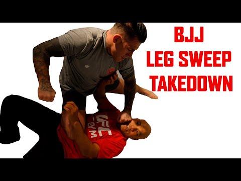 BJJ leg sweep takedown | Wing Chun Master Wong