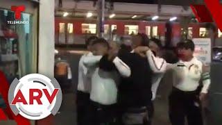 Policías le caen a golpes a un hombre borracho y el video se hace viral   Al Rojo Vivo   Telemundo