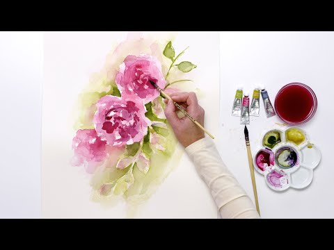 How to paint loose watercolor roses with Jennifer Rose