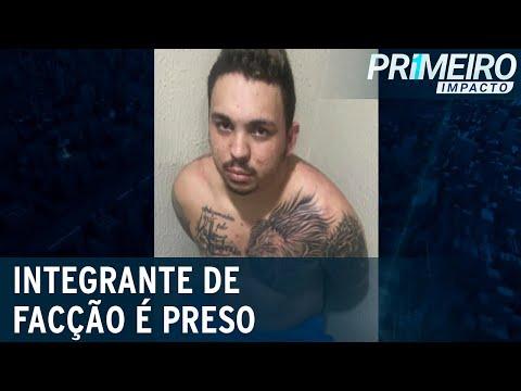 Integrante de facção é preso após fazer vídeo ameaçando viatura com arma  Primeiro Impacto(21/07/21)