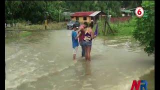 Barrios limonenses inundados por lluvias de las últimas horas