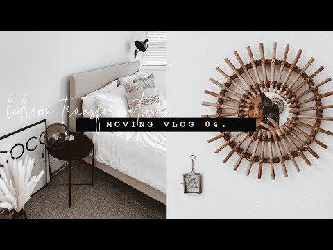 DIY BEDROOM MAKEOVER   MOVING VLOG 04.   I Covet Thee