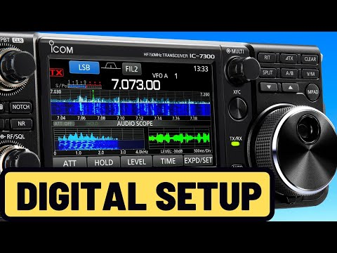 Icom IC-7300 SETUP for WSJT/FT8 Digital Modes (Easy and Simple)