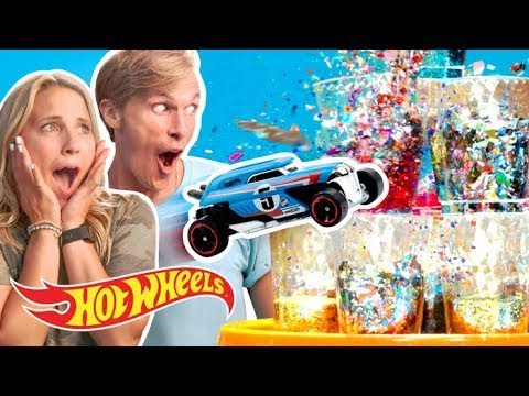 EPIC Mega Booster vs. School Supplies | Hot Wheels Fast Track | Hot Wheels