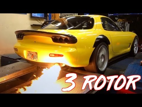 20B 3 Rotor RX7 SCREAMS 10,000RPM on the Street - Amazing Sounds!