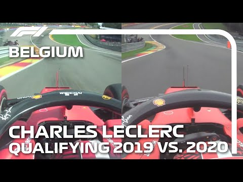 Belgian Grand Prix Qualifying 2019 v 2020: Charles Leclerc's Fastest Laps