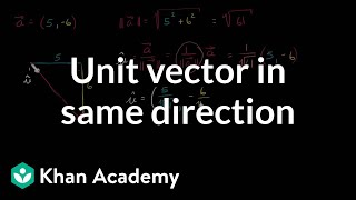 Unit vector in same direction