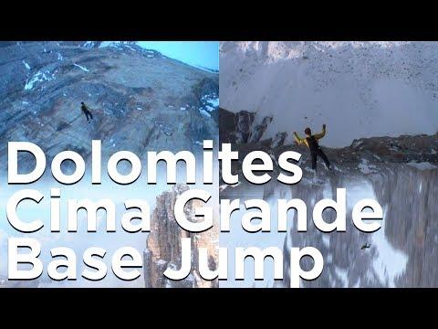 Tre Cime di Lavaredo Cima Grande Dolomites Base Jump montagne Octobre 2002