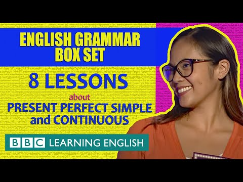 BOX SET: The present perfect tenses - 8 English lessons in 46 minutes!