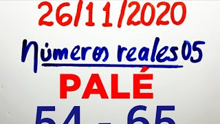 NÚMEROS PARA HOY 26/11/20 DE NOVIEMBRE PARA TODAS LAS LOTERÍAS..!! Números reales 05 para hoy..!!