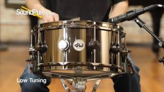 DW 6.5x14 Collectors Black Nickel Over Brass Snare Drum Quick 'n Dirty