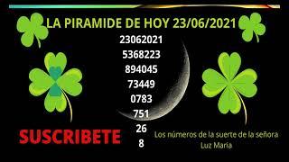 LA PIRAMIDE DE LOS NUMEROS DE HOY 23 DE JUNIO DEL 2021
