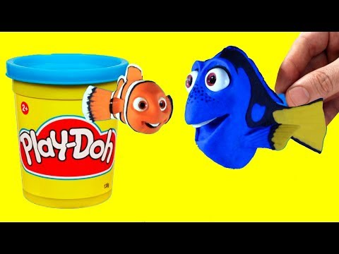 connectYoutube - Finding Nemo and Dory stop motion clay animation fun for kids