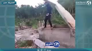 سقوط جدار على شاب