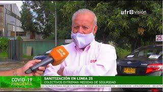 Sanitización de colectivos de la línea 25 de Temuco   ESPECIAL COVID-19