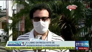 C-libre entrega kits de bioseguridad a periodistas