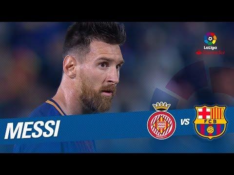 Lanzamiento de falta de Messi que despeja Gorka