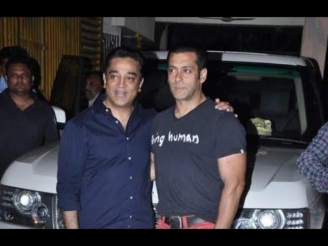 Salman Khan Attends Kamal Haasan's Vishwaroopam Screening