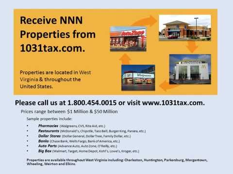 View NNN property in West Virginia  NNN triple net lease property for investors & 1031 exchange