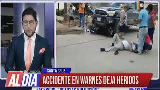 Accidente de tránsito en Warnes deja dos heridos