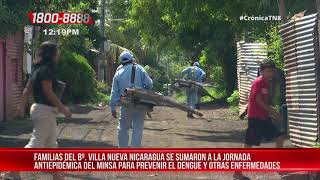 Nicaragua: Jornada de eliminación de criaderos en barrio capitalino Villa Nueva