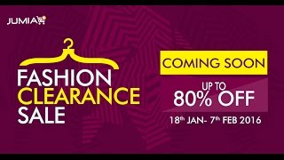 Jumia Fashion Clearance Sale 2016