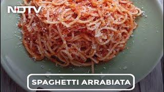 How To Make Spaghetti in Arrabiata Sauce   Easy Spaghetti in Arrabiata Sauce Recipe Video - NDTV
