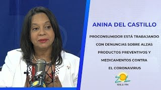 Anina del Castillo Proconsumidor trabaja en denuncia de alza productos preventivos coronavirus