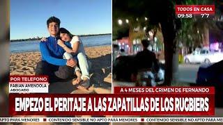 Crimen de Fernando: empezó el peritaje a las zapatillas de los rugbiers