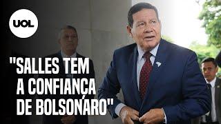 MOURÃO NEGA DESMONTE E DEFENDE SALLES: