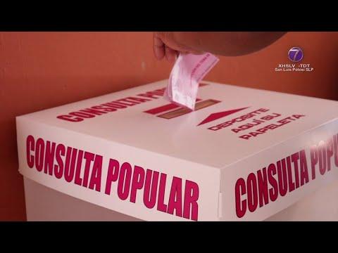 Apenas el 4.88% del padrón electoral de SLP participó en la Consulta Popular.