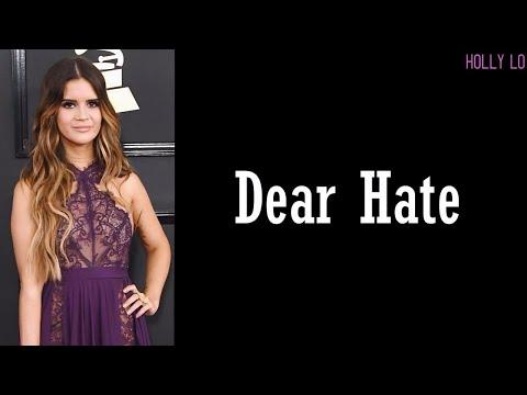 Dear Hate - Maren Morris & Vince Gill (Lyrics)