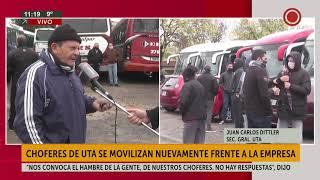 Choferes de UTA se movilizan nuevamente frente a la empresa