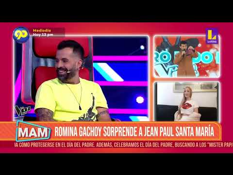 #MujeresAlMando   Jean Paul Santa María cautivó con su voz a Guillermo Dávila Mike Bahía en La Voz