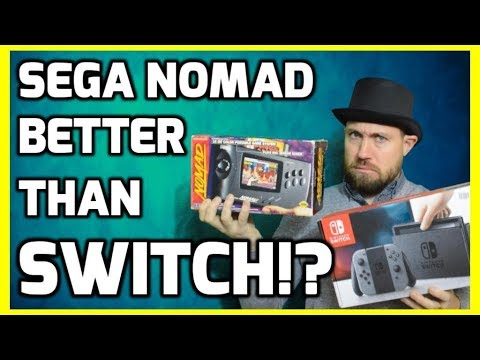 connectYoutube - Is The Sega Nomad Better Than The Nintendo Switch !? - Top Hat Chat