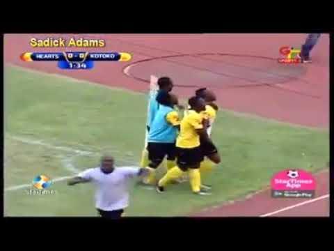 VIDEO: Watch Saddick Adams hat-trick in Asante Kotoko MTN FA Cup win over rivals Hearts of Oak